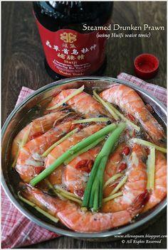 Cuisine Paradise: steamed drunken prawns