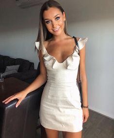 Regan Bustier Dress - Natural @melbowmann