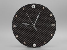 Carbon Fiber Clock with Fittings from Formula 1 Cars - New Products | Carbon Fiber Gear