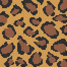 Tapestry crochet number 3 leopard print clutch free pattern how to do intarsia crochet free tutorial for beginner Tapestry Crochet Patterns, Crochet Stitches Patterns, Crochet Chart, Diy Crochet, Stitch Patterns, Knitting Patterns, Alphabet Au Crochet, Crochet Numbers, Mochila Crochet