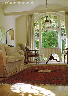 Wohnzimmer im Gartenhaus www.refugium-im-norden.de