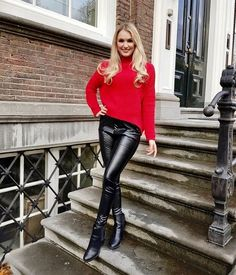 Confident Woman, Leather Pants, Womens Fashion, Ladies Fashion, Hot, People, How To Wear, Outfits, Models
