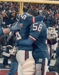 Giants (Lawrence Taylor #56, Carl Banks #58) vs Washington NFC Championship Game January 11, 1987