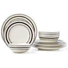 Around The Table Stripe 12-pc Set By Lenox