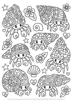 Notebook Doodles Adorable Pets: Coloring & Activity Book