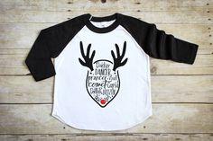 Reindeer Names Shirt - Kid's Christmas Shirt - Kids Holiday Shirt -  Toddler Christmas Tee - Gifts for Kids - Kids Xmas Shirt - Rudolf Shirt by PineapplePancakeKids on Etsy