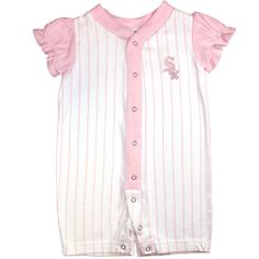 White Sox Pretty In Pink Baby Romper  #whitesox #Chicago #baby #infant #romper #babyfans
