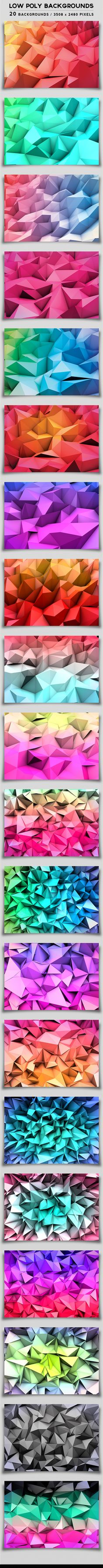 Low Poly Backgrounds by Darius Zan, via Behance