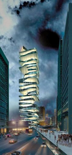 Modern structure in Hong Kong -- Curated by: Ecora Engineering & Resource Group 579 Lawrence Avenue Kelowna BC Unusual Buildings, Interesting Buildings, Amazing Buildings, Modern Buildings, Future Buildings, Unusual Houses, Architecture Design, Futuristic Architecture, Beautiful Architecture