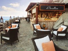 El Farallon Cabo San Lucas, Mexico Travel Tips chair restaurant Resort travel cottage Best Resorts, Best Hotels, Luxury Resorts, Cabo San Lucas Mexico, Mexico Resorts, Vacation Places, Vacation Spots, Mexico Travel, Mexico Vacation