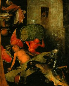 Triptych of Last Judgement. Last Judgement. The Cask (central panel - detail) detail - The Last Judgment (Bosch triptych) - Hieronymus Bosch (circa 1450–1516