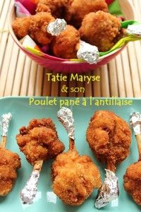 poulet pané à l'antillaise Haitian Food Recipes, Mexican Recipes, Creole Recipes, Caribbean Recipes, Baked Chicken Recipes, Easy Healthy Breakfast, Finger Foods, Coco, Food And Drink