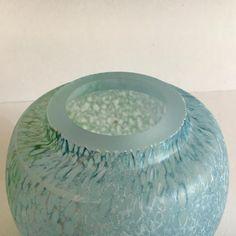 Kjell engman for Kosta Boda bowl with lid ' The reef collection' Kosta Boda, Glass Design, Mint, Vase, Vases, Peppermint, Jars
