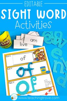 Looking for a fun and motivating way for your kindergarten students to learn their sight words? Sight word play dough mats make learning sight words fun! Type in words from your sight word list and create a motivating word work station that engages all the senses to help your kindergarten students learn their sight words. #sightwords #playdoughmats