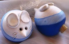 Precious Mice Salt and Pepper Shakers SHINY MINT by ChinaGalore, $18.00
