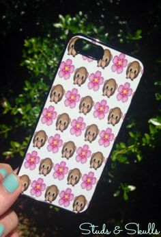 Iphone 5 5S Phone Case Emoji Monkey Floral Print Hipster Phone Cover