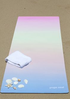 Sunset Mat Hot Yoga Mat. High quality, non-slip, combo mat/towel designed to grip the more you sweat on your mat! Two Products in One (Mat/Towel). Great for hot yoga, Bikram, pilates and people who li