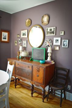 Vintage Dining room buffet gallery wall happygovintage apartment tour