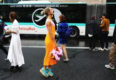 Natalie Joos in a Stella McCartney dress