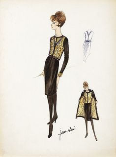 Jean Louis vintage original costume sketch of Gina Lollobrigida as &l... Lot 517