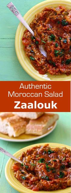 Zaalouk is a Moroccan salad, known throughout North Africa, that is often prepared with eggplant and which accompanies grilled meats, fish and tagines. #Morocco #MoroccanCuisine #196flavors