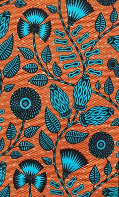 Pagne Wax 45 guaranteed Petit Chigan, tissu africain