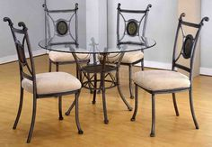 Glass Kitchen Table And Chairs dining room a magnificent metal dining room table with glass top for PEGIARK - Kitchen Ideas Round Glass Table, Round Kitchen Table, Metal Dining Chairs, Glass Dining Table Set, Kitchen Table Settings, Metal Dining Table, Glass Dining Room Table, Round Dining Table Sets, Dining Table Chairs