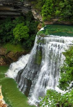 Burgess Falls in Tennesee