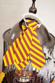 Create Gryffindor ties for everyone to wear.   29 Essentials For Throwing The Perfect Harry Potter Party