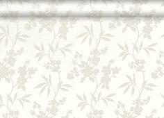 Thalia White Floral Wallpaper