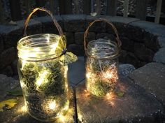 Fireflies... gotta have em! Besides, I have a mason jar obsession. haha