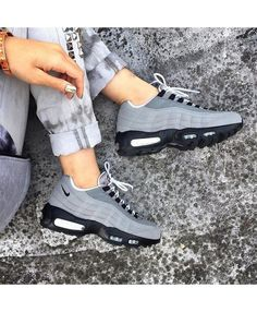 c109e7f6570 Womens Nike Air Max 95 Wolf Grey Black Trainer https   twitter.com