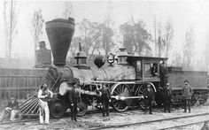 first steam locomotive | Photograph of the first steam locomotive built in Canada