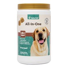 NaturVet AllinOne Dog Soft Chew Supplement Skin and Coat Health Joint Support Digestive Health Vitamin and Mineral Support Overall Health Boost For Your Dog Made by *** To learn more, go to picture link. (This is an affiliate link). Best Dog Vitamins, Best Dog Supplements, Probiotic Supplements, Cat Nutrition, Support Dog, Dog Ramp, Cat Health, Vitamins And Minerals