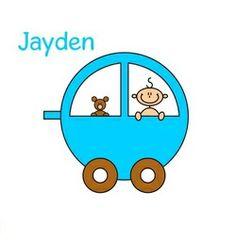 Geboortekaartje jongen in kar. De goedkoopste geboortekaartjes online ontwerpen en bestellen via http://www.geboortepost.nl/geboortekaartjes/cartoons/boy-in-car-2-vk.html