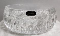 "Toscany Annabelle Series 7-1/2"" Hostess Bowl - 24% Fine Lead Crystal - USA Made…"