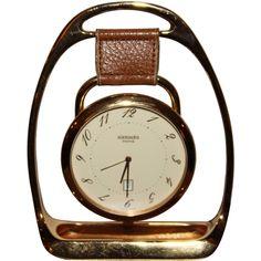 Hermes Horse Shoe Clock (1970s) France