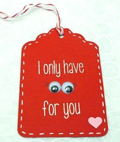 Valentine's Day Handmade Gift Tag
