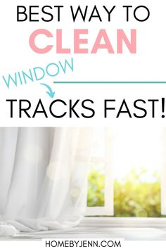 Learn how to clean window tracks fast and the right way. Get rid of any dust, dirt, and debris lingering for a fresh and clean window track. #windows #cleaning #guide #howto #best #easy #windows #home #fresh via @homebyjenn Cleaning Hacks, Cleaning Routines, Daily Routines, Cleaning Window Tracks, Clean Window, How Do You Clean, All Purpose Cleaners, Best Blogs, Window Cleaner