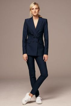 Buy Navy Wool Blend Double Breasted Jacket from the Next UK online shop