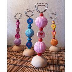 Porte-photos décorés de perles
