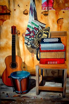Colombian Culture, Colombian Art, Music Illustration, Mexican Art, Art Music, Party Themes, Decoupage, Art Drawings, Instruments