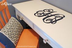 New way to use a vinyl decal~ college girls would LOVE this!!!