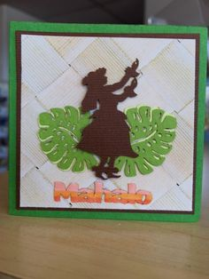 Hawaiian Themed Word for Cards by IslandScrapbooking on Etsy