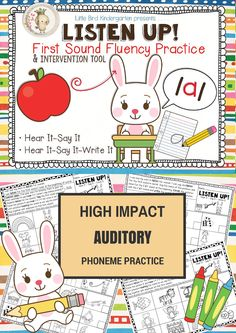 """For your kiddos still struggling with """"hearing"""" sounds... very effective and directions are explicit on every page so that assistants OR volunteers can provide the intervention!"""