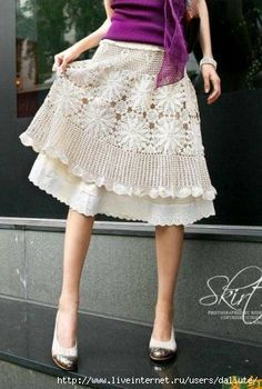 Adorable crocheted skirt. Not in English, but pictures and diagram for inspiration.