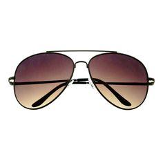 Stylish Large Metal Pilot Aviator Sunglasses Shades A1600