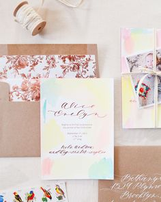Hand-Painted-Rose-Gold-Foil-Birth-Announcements-Mon-Voir-Calligraphy-Bella-Figura-OSBP-200