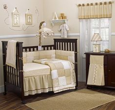 White Decoration Painting Magnificent Nursery Room with Wooden Floor Design and Beautiful Picture Frame Wall Decorating also Traditional Wooden Crib Design for Adorable Decoration Painting of the Baby Nursery Room Designs