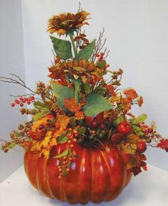 giant pumpkin arrangement
